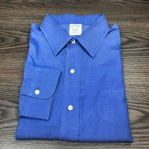 Brooks Brothers Solid French Blue Dress Shirt 16.5